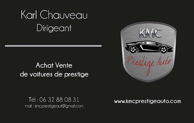 Carte Visite KMC Prestige Auto